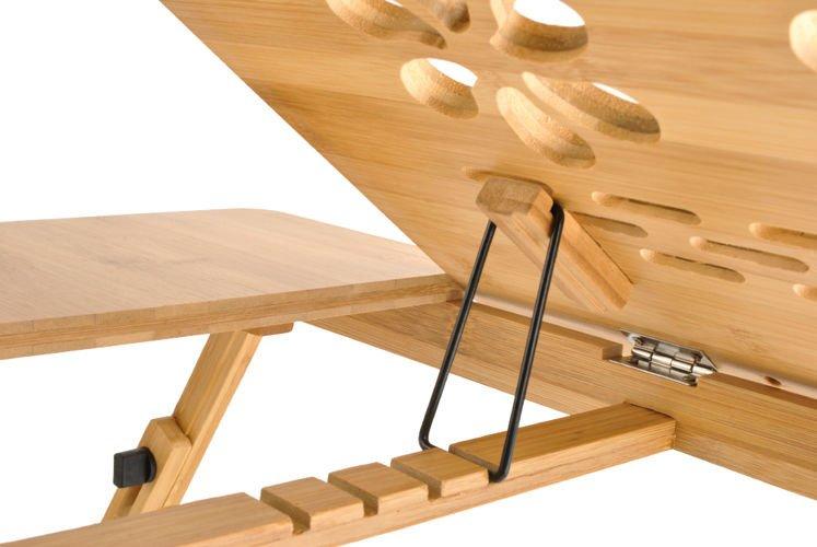 Drewniany Stolik Pod Laptopa Z Regulacją