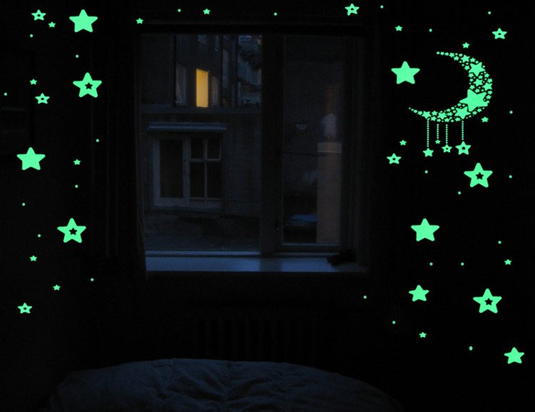 Naklejki Scienne Fluorescencyjne Gwiazdy 52 El Sklep Internetowy