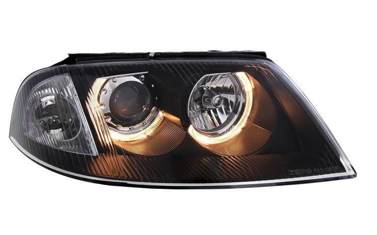 Reflektory Lampy Przednie Passat B5 Fldepo Black Ringi